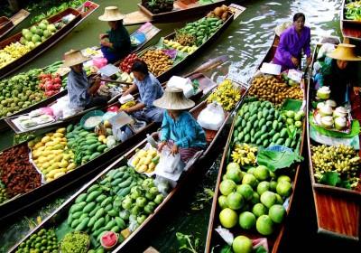 Damnoen Saduak Plovoucí trh & River Kwai