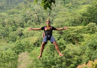 Létající dobrodružství Hanuman Zipline