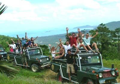 Výlet do džungle na 4WD džípu včetně jízdy na slonech