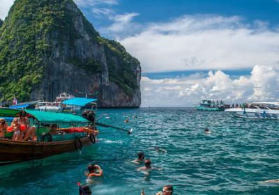 Šnorchlování na Koh Rok na rychlo člunu